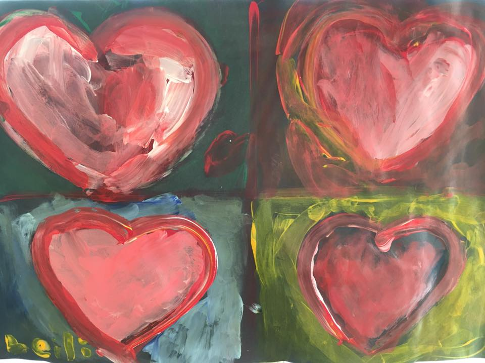 Jim Dine Four Hears' Study